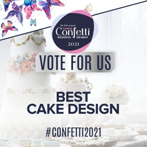 Confetti Vote For Us Best Cake Design 2021