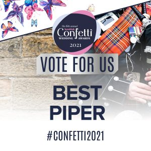 Confetti Vote For Us Best Piper 2021