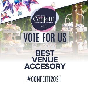 Confetti Vote For Us Best Venue Accessory 2021