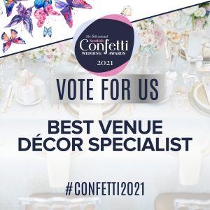 Confetti Vote For Us Best Venue Decor Specialist 2021
