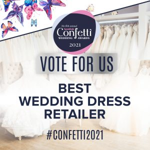 Confetti Vote For Us Best Wedding Dress 2021