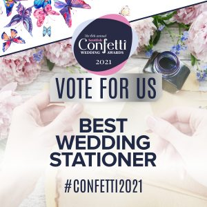 Confetti Vote For Us Best Wedding Stationery 2021