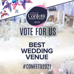 Confetti Vote For Us Best Wedding Venue 2021